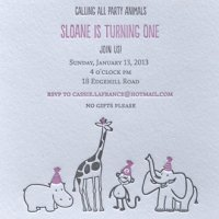 Sloane's First Birthday Invitation