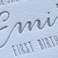 Emi's First Birthday Party Invitation