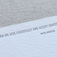 Custom Maya Angelou Quote Stationery