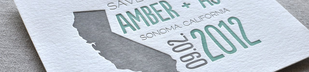 Amber & AJ Letterpress Wedding Invitation Suite