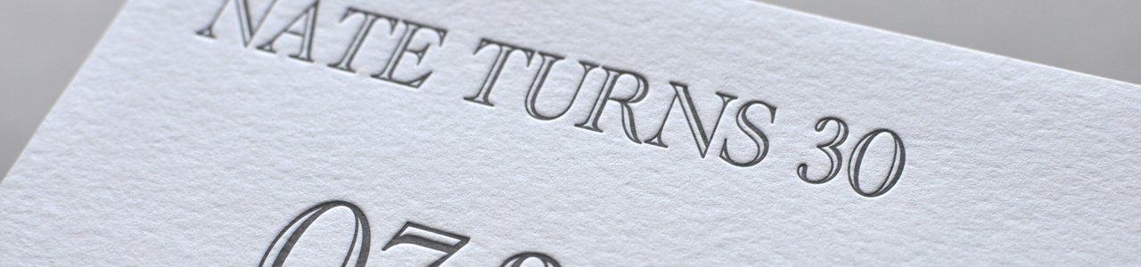 Nates 30th custom letterpress birthday invitationpaperwheel filmwisefo