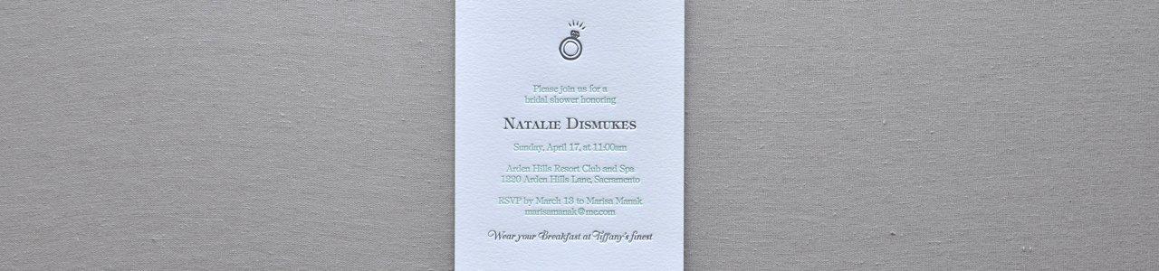 Natalies custom letterpress bridal shower invitationpaperwheel filmwisefo