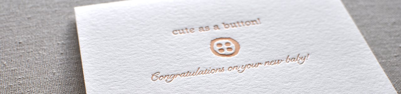 Baby Letterpress Greeting Cards